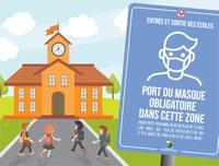 Masque obligatoire aux abords des écoles lors des entrées et sorties des élèves