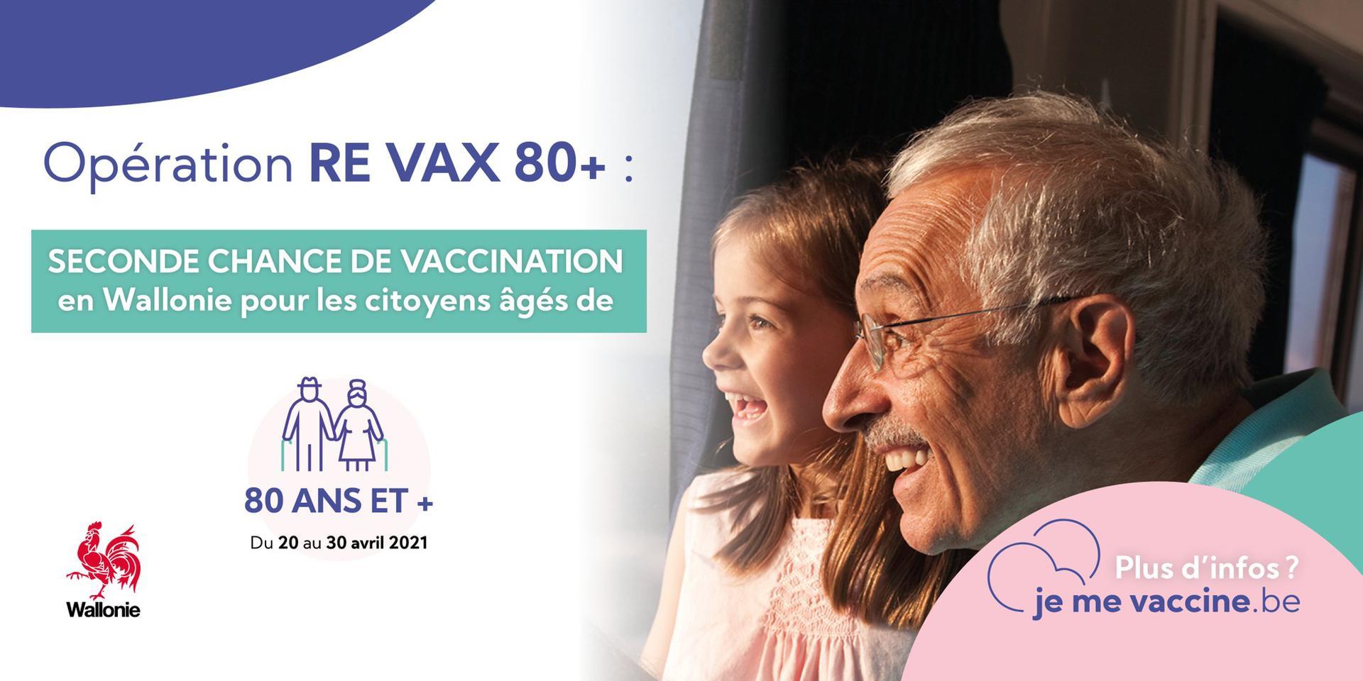 Opération « Re Vax 80+ » en Wallonie : Seconde chance de vaccination pour les citoyens âgés de 80 ans et plus